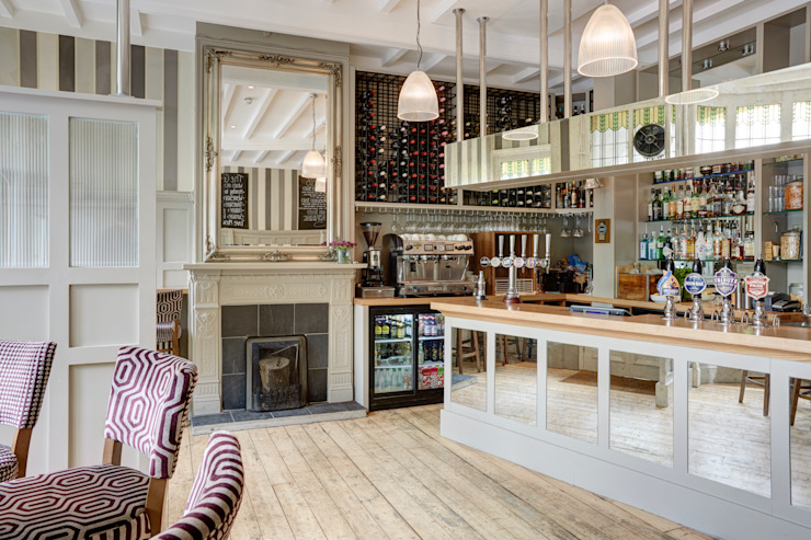Charming Pub on Kew Green Classic gastronomy by White Linen Interiors Ltd Classic