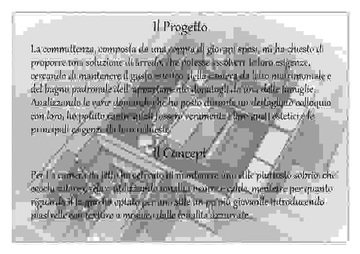 Proposta di arredo camera matrimoniale e bagno padronale di Studio di Progettazione e Interior Design Cinzia Simonini