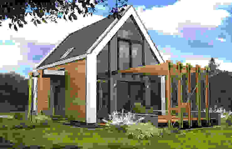 """projekt domu jednorodzinnego """"Delta"""" Nowoczesne domy od DOMuSniechowskich Nowoczesny"""