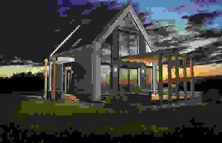 projekt domu jednorodzinnego <q>Delta</q> Nowoczesne domy od DOMuSniechowskich Nowoczesny
