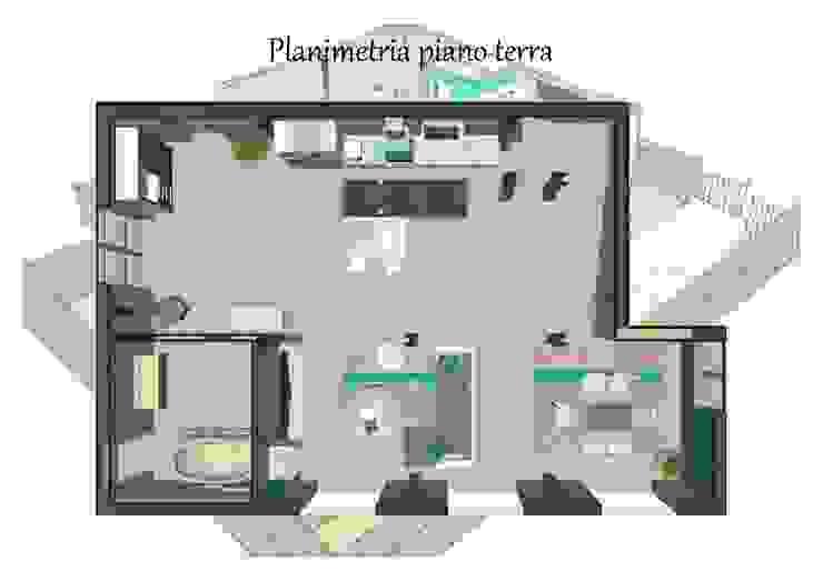 Proposta di arredo di un loft e progettazione di un impianto domotico di Studio di Progettazione e Interior Design Cinzia Simonini