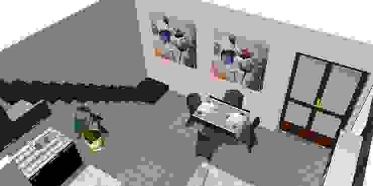 Proposta di arredo di un monolocale di Studio di Progettazione e Interior Design Cinzia Simonini