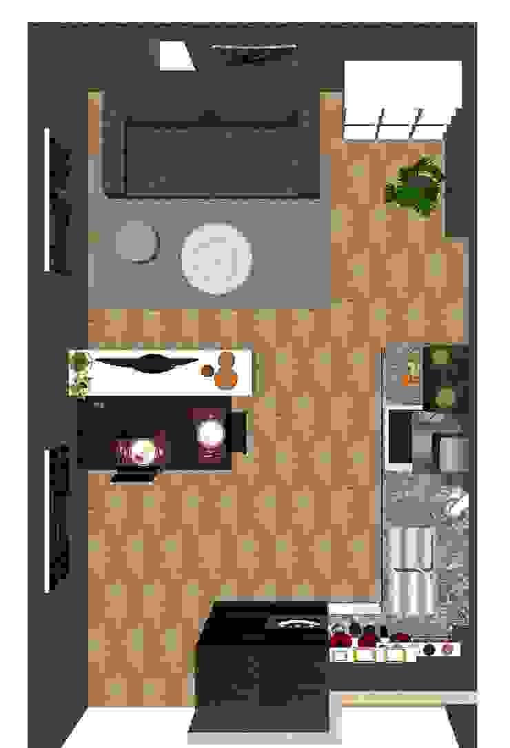 Proposta di arredo di una zona giorno di Studio di Progettazione e Interior Design Cinzia Simonini