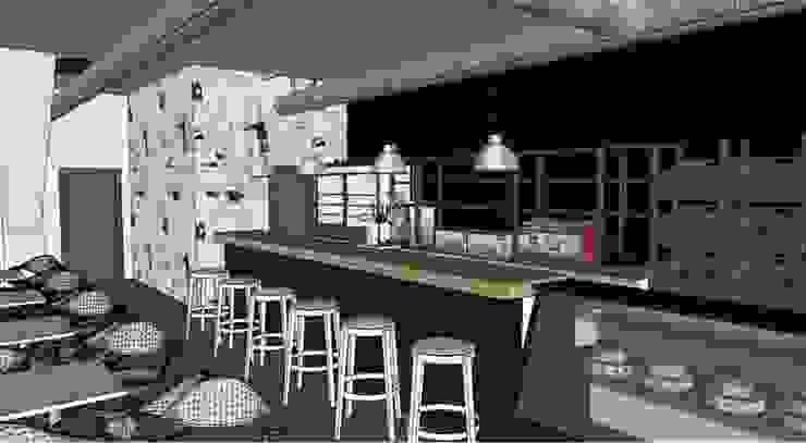 PROYECTO CAFETERIA EN CAMPOHERMOSO Gastronomía de estilo industrial de INTA3D ARQUITECTURA S.L.P. Industrial
