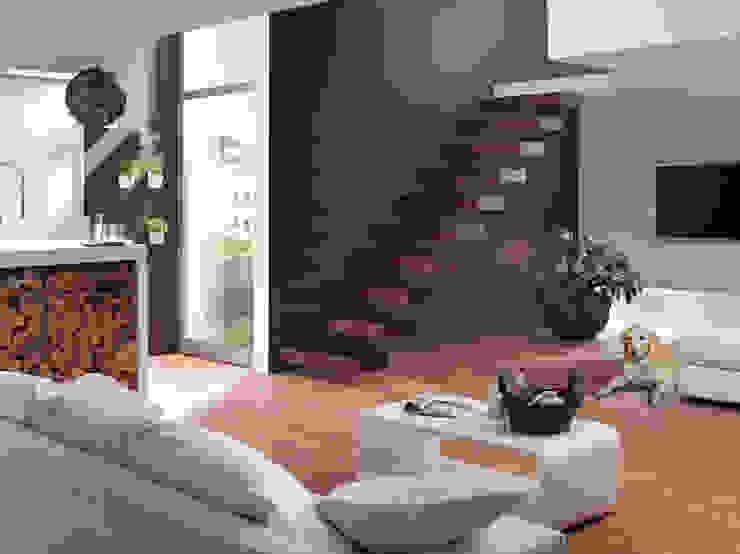 Kragstufentreppe Ego: modern  von Dominikus Schrägle Treppenbau Schreinerei,Modern
