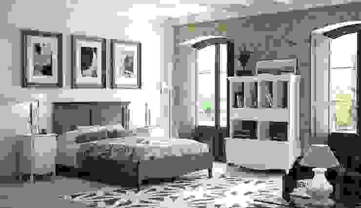 Dormitorio Vintage Mediterráneo de Paco Escrivá Muebles