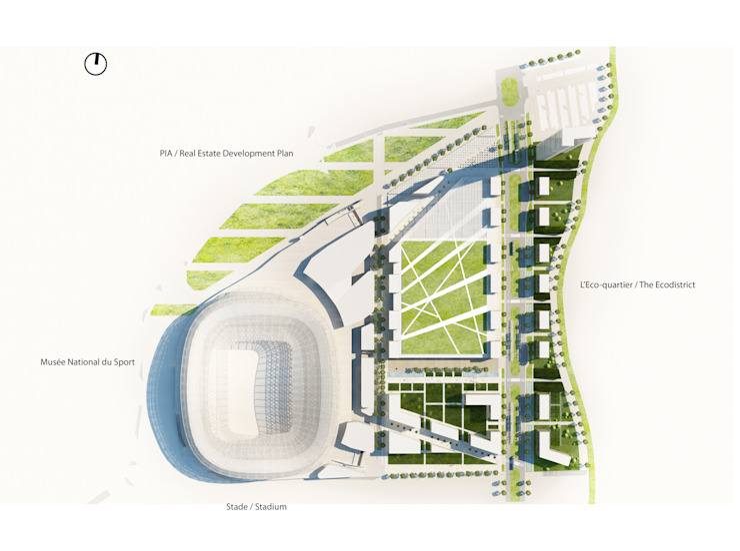 Plan de masse Stades modernes par Wilmotte & Associés Moderne