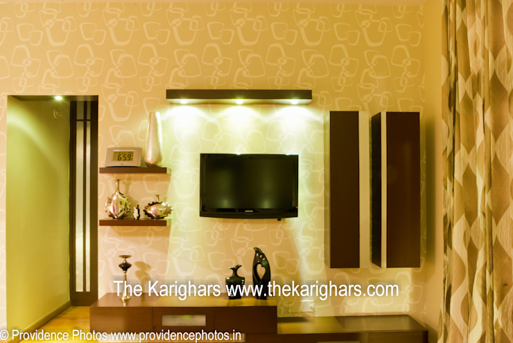 Master Bedroom TV Unit Modern style bedroom by The KariGhars Modern