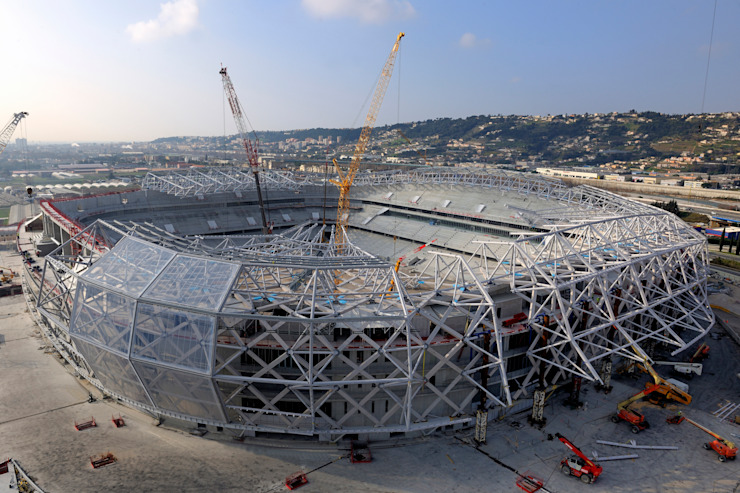 Stade en construction Stades modernes par Wilmotte & Associés Moderne