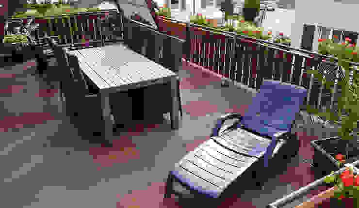 familienfreundliche Dachterrasse Moderner Balkon, Veranda & Terrasse von WARCO Bodenbeläge Modern