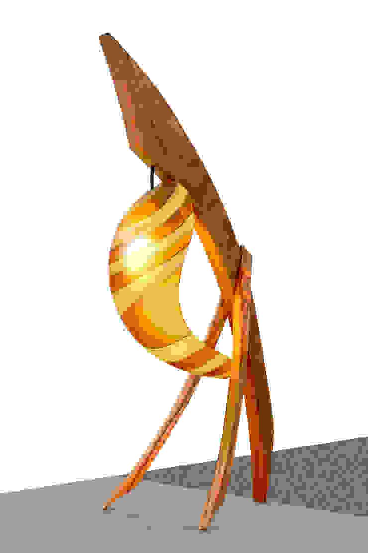 Lampada Spinnaker - Legno di Noce e Vetro di Murano di DIMISCO