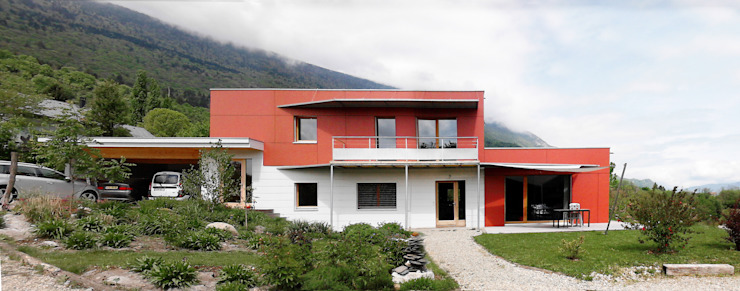 Façade Sud Maisons modernes par Tangentes Architectes Moderne