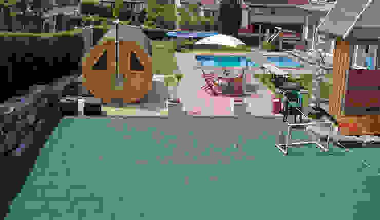 flexibler Sportboden Moderner Garten von WARCO Bodenbeläge Modern