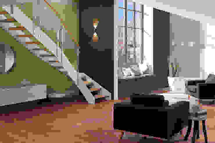 Schmalwangentreppe Loft: industriell  von Wippertal GmbH,Industrial
