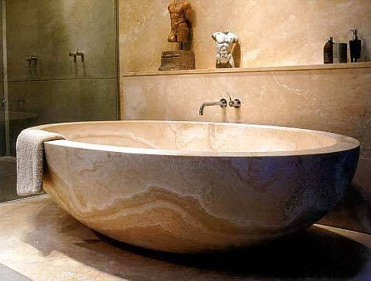 Stone bath tub Anzalna Trading Company BathroomBathtubs & showers