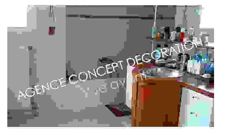 vue avant Salle de bain moderne par agence concept decoration Moderne