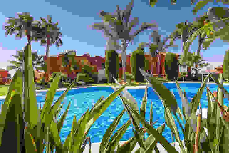 pool Casas de estilo mediterráneo de Espacios y Luz Fotografía Mediterráneo