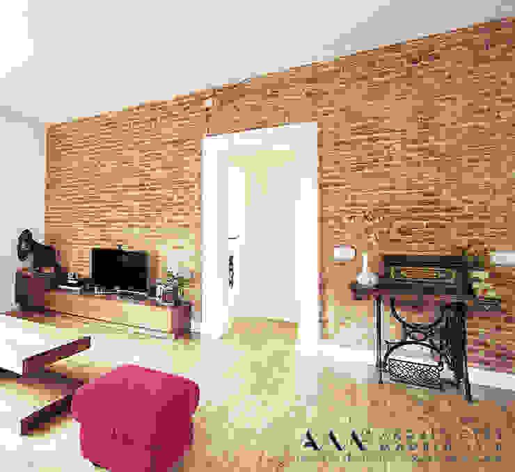 Phòng khách phong cách công nghiệp bởi Arquitectos Madrid 2.0 Công nghiệp
