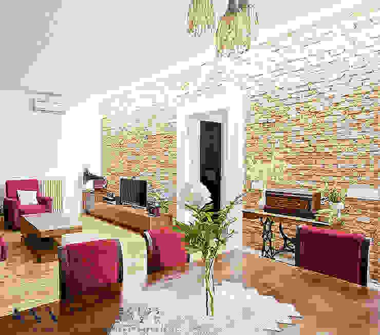 Phòng khách phong cách chiết trung bởi Arquitectos Madrid 2.0 Chiết trung