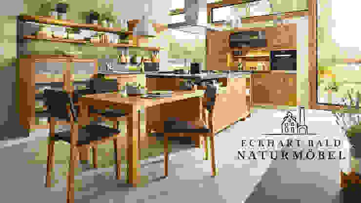 Cucina in stile rustico di Eckhart Bald Naturmöbel Rustico
