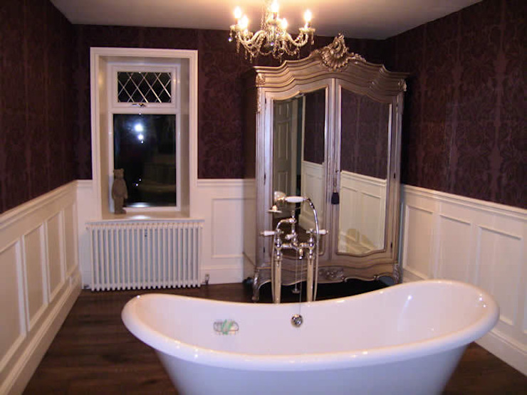 Poole Beaded Panelling  Bathroom: classic  by The UK's Leading Wall Panelling Experts Team, Classic