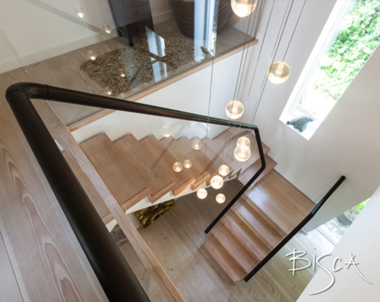 Letting in the Light Modern Corridor, Hallway and Staircase by Bisca Staircases Modern