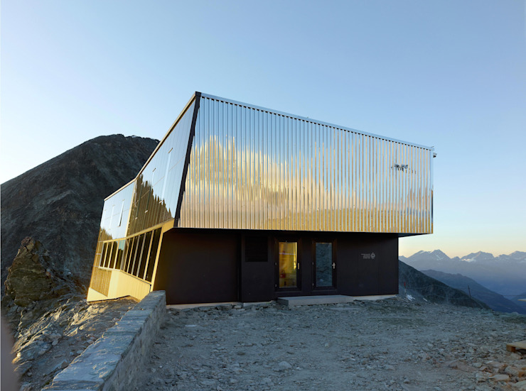 New mountain hut at Tracuit Interior design by savioz fabrizzi architectes