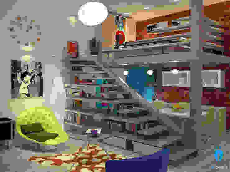 Soppalco vintage Case eclettiche di blucactus design Studio Eclettico