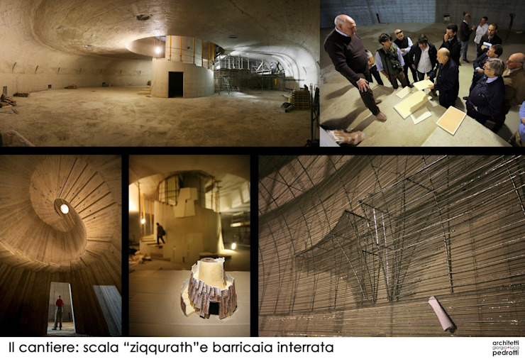 Tenuta Castelbuono, il Carapace Cantina moderna di luca pedrotti architetto Moderno
