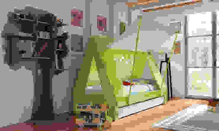 Lit caravane et tente par Mathy by Bols Classique