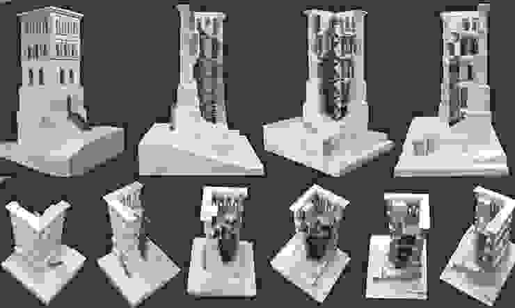 Maqueta de la torre en madera de ADDEC arquitectos