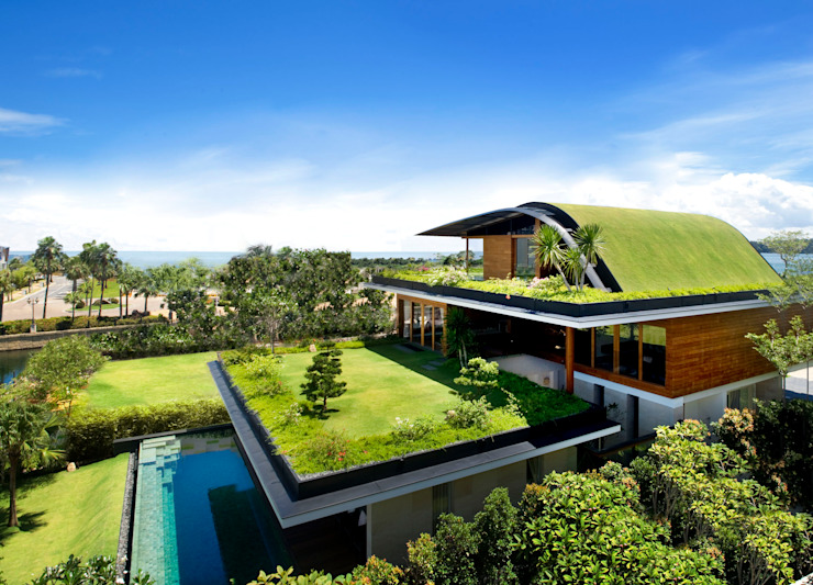 MEERA SKY GARDEN HOUSE:  Houses by Guz Architects