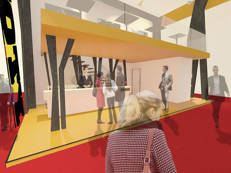 Ytong stand design: modern  by Haag Architects, Modern