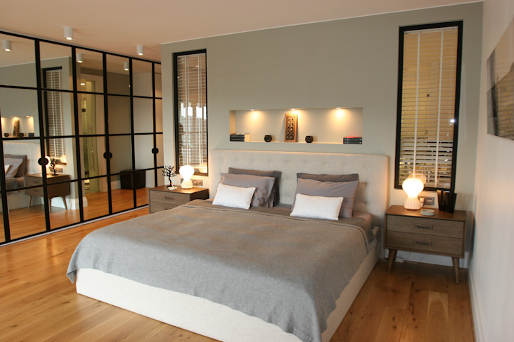 KKS HOUSE Esra Kazmirci Mimarlik Modern style bedroom Grey