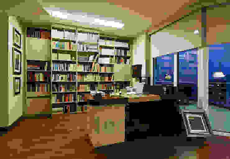 Müezzinoğlu Apartment/Selenium Panaroma Residence Modern study/office by Pebbledesign / Çakıltașları Mimarlık Tasarım Modern