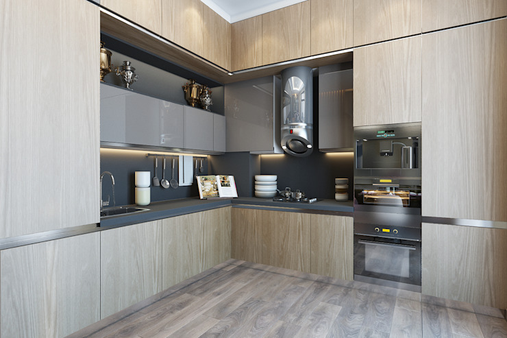Minimalist kitchen by homify Minimalist