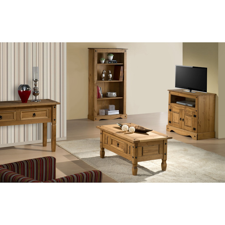 Bonsoni Pine Corona 2 Drawer Flat Screen Tv Unit di homify Rurale