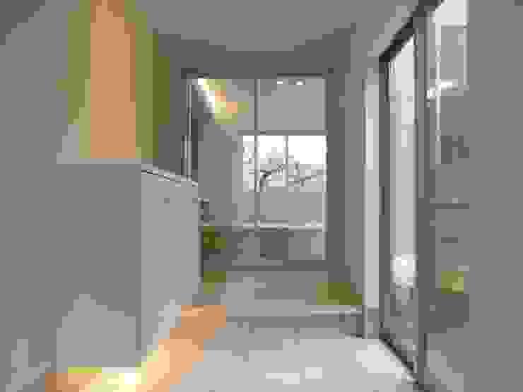 土 間 オリジナルスタイルの 玄関&廊下&階段 の 松井設計 オリジナル