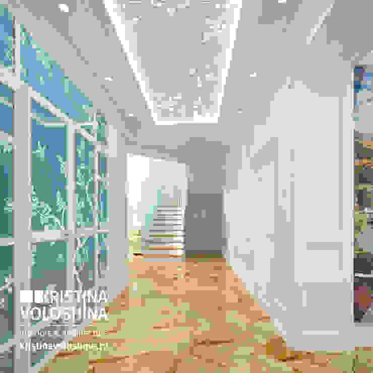 Cовременный интерьер в модном средиземноморском стиле Коридор, прихожая и лестница в средиземноморском стиле от kristinavoloshina Средиземноморский