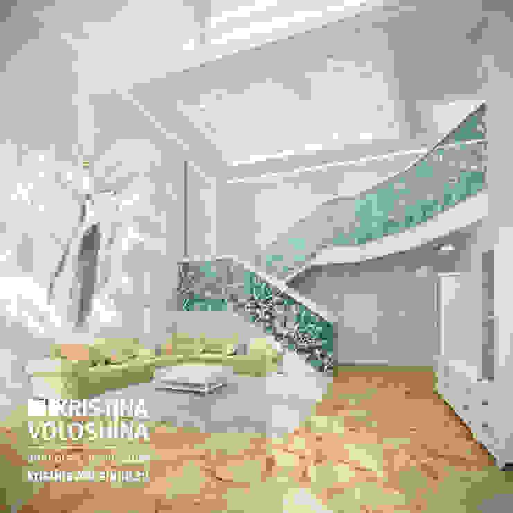 Cовременный интерьер в модном средиземноморском стиле Гостиная в средиземноморском стиле от kristinavoloshina Средиземноморский