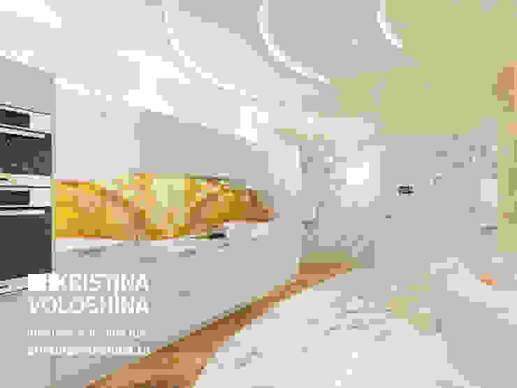 Современная квартира в Королеве Кухня в классическом стиле от kristinavoloshina Классический