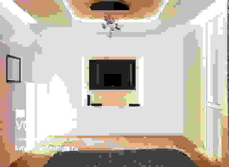 Современная квартира в Королеве Спальня в стиле модерн от kristinavoloshina Модерн
