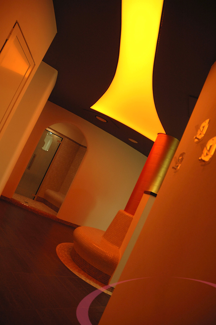 Centro benessere, dettagli Spa moderna di ITALIAN WELLNESS - The Art of Wellness Moderno
