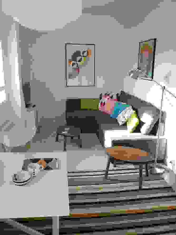 Décoration appartement meublé Salon moderne par Emmanuelle Diebold Moderne