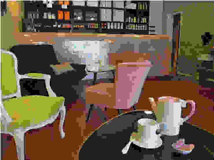 Décoration salon de thé Espaces commerciaux originaux par Emmanuelle Diebold Éclectique