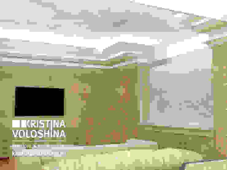Классический интерьер в современной интерпретации. Дом под Троицком Гостиная в классическом стиле от kristinavoloshina Классический