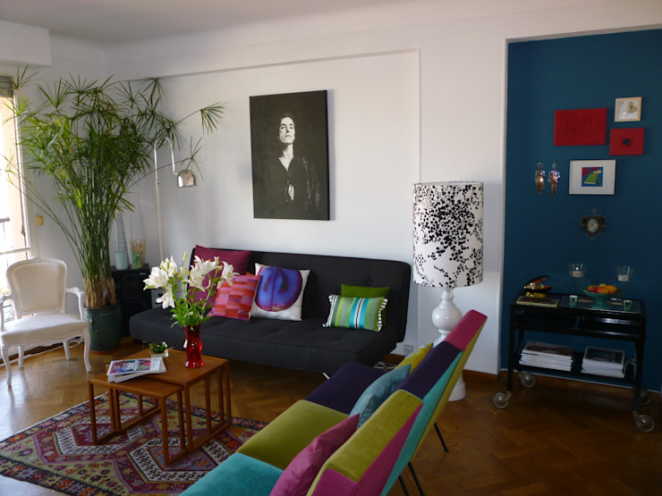 Living room by Emmanuelle Diebold, Eclectic