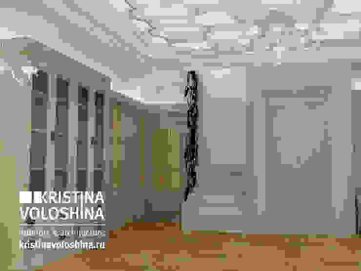 Классический интерьер в современной интерпретации. Дом под Троицком Коридор, прихожая и лестница в классическом стиле от kristinavoloshina Классический