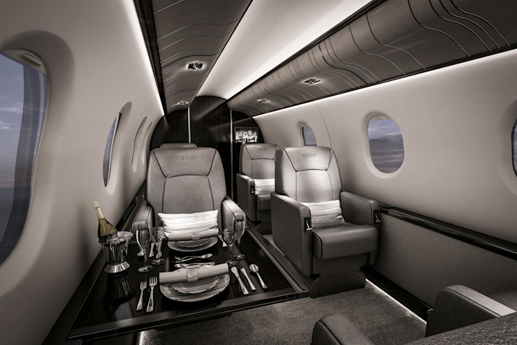 Aviation Yachts & jets by Celia Sawyer Luxury Interiors