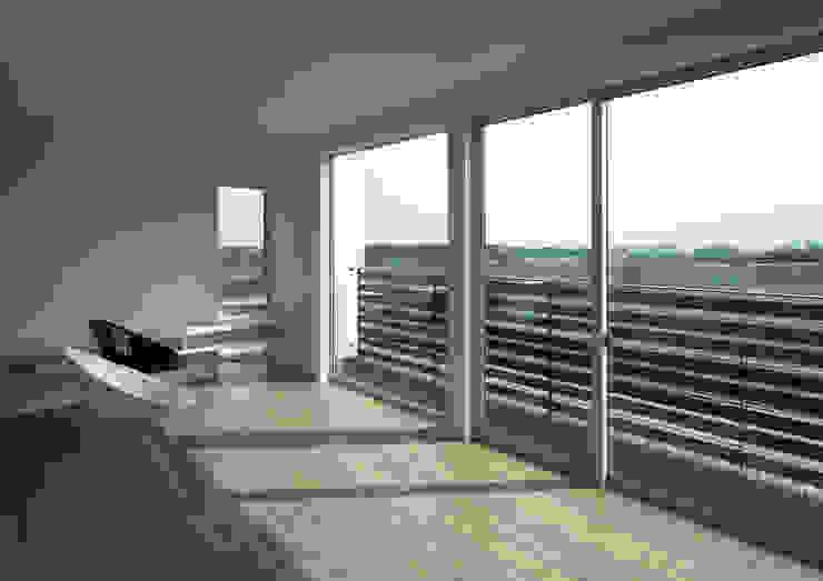 居間よりの眺め オリジナルデザインの リビング の 株式会社 mA建築計画工房 オリジナル